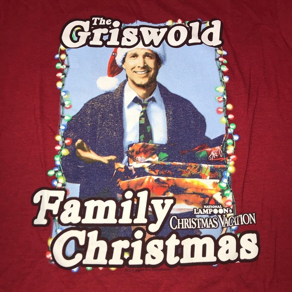 Griswold Family Christmas.B Clark Griswold Family Christmas Tee Shirt Large
